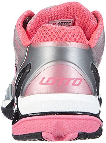 Lotto Sport - Raptor Evo Clay W, Scarpe da tennis Donna Multicolore (Mehrfarbig (MET SIL/FL PINK))