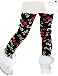 Niña Impresión Leggings Cintura Elástica Legging Cálido Pantalones Jeggings Leggins