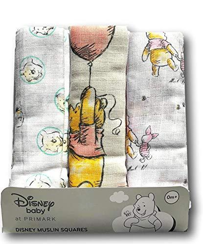 Primark Winnie Pooh Disney - Pañales de gasa, 70 x 70 cm,...