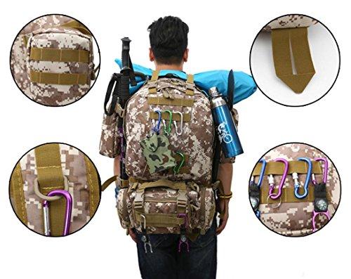 70LOutdoor Bergsteigen Rucksack mit Molle Tasche / Militär Tasche / Militär Rucksack / Rucksack Uniform / Camping taktischen Rucksack (Tarnung / schwarz / ACU / khaki) E