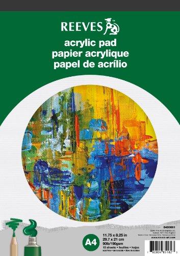Reeves Acrylblock 15 Blatt Acrylpapier, 190g/m² - DIN A4