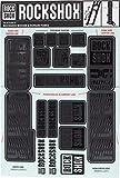 RockShox Aufklebersatz 35mm Stealth, Boxxer/Domain Doppelkrone, 11.4318.003.514 Ersatzteile, schwarz Standrohre und Doppelbrücke