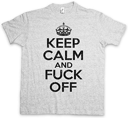 Keep Calm and Fuck Off T-Shirt - Indie Disco Alternative Techno Cyber Punk Rock Revolutunary Biker Gangster Hip Hop Streetwear Skater Rap Dance Electro Größen S – 5XL (Hip-hop-rock-punk-t-shirts)