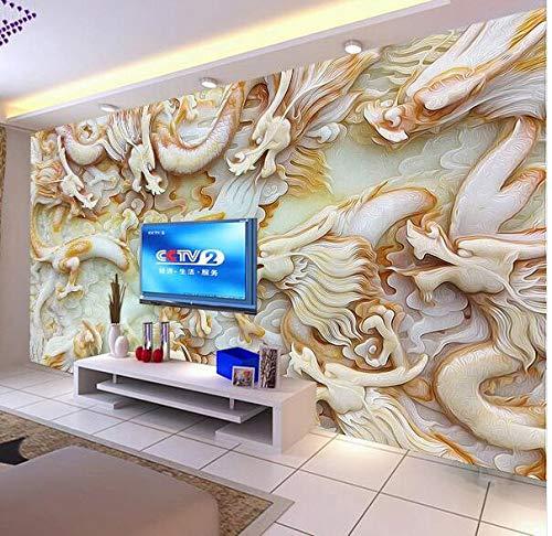 FOREVERFL Papel Tapiz 3D dragón en Relieve Papel Tapiz KTV Bar Tienda de Ropa cafetería Restaurante Sala de Estar Dormitorio Papel Tapiz, 200 * 140 cm