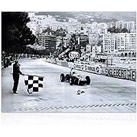 Monaco-Formel-1-Grand-Prix-Foto von Stirling Moss unterzeichnet