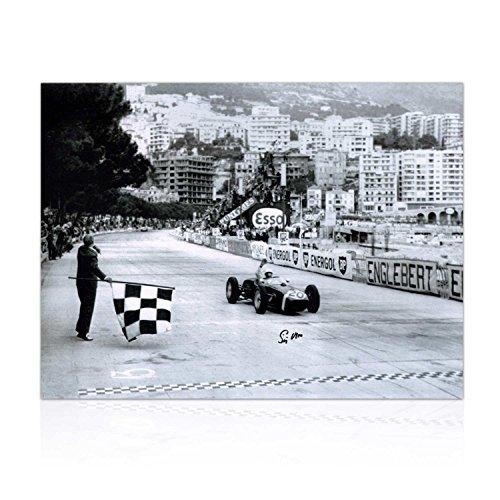 Stirling Moss Signé Formula One Photo: Grand Prix de Monaco