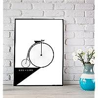 Stampa di un poster con biciclet
