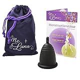 Me Luna Coupe menstruelle Classic, manche noir taille M