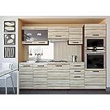 JUSThome Paula Küchenzeile Küchenblock Küche 240 cm Farbe: Akazie