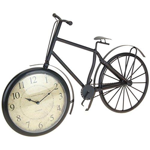 Mazali C37568140 Tischuhr Fahrrad-Form, Metall, Mehrfarbig, 50 x 10 x 33 cm