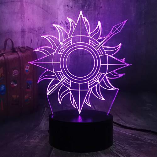 House Martell Game of Thrones EIN Lied von EIS und Feuer 3D LED Nachtlicht Schreibtischlampe Wohnkultur Kind Fans Junge Spielzeug