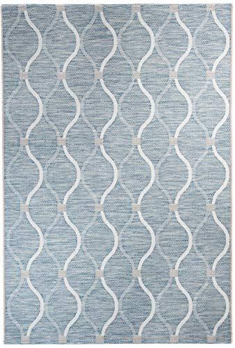 Carpeto Rugs In- & Outdoor Flachgewebe Teppich Terrassen Balkon - Wasserfest Gelb Grün 60 x 110 cm XS -