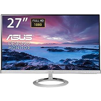 Asus MX279H Monitor, 27'' Full HD IPS 1920x1080, Frameless, Low Blue Light, Nero/Argento