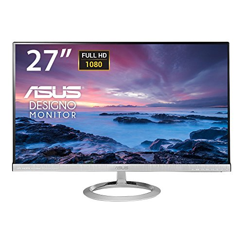 Asus MX279H Monitor, 27'' Full HD IPS 1920x1080, Frameless, Low Blue Light,...