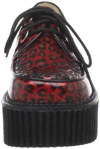 Demonia CREEPER-208 Red Cheetah Gltr Pat