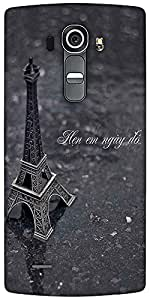 Snoogg Eiffel Love Designer Protective Back Case Cover For LG G4