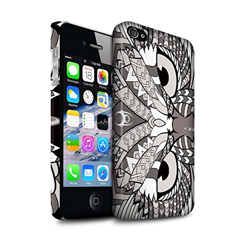 Clipser Matte Coque de Stuff4 / Coque pour Apple iPhone 7 Plus / Loup-Pourpre Design / Motif Animaux Aztec Collection Hibou-Mono