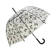 Questo ombrello trasparente con il motivo di farfalle è per le signore. La copertura trasparente vi permetterà di godere la vista panoramica della vita all' aria aperta, pur essendo completamente protetto. Potrete portare questo ombrello con ...