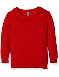 United Colors of Benetton 1032C1319, Suéter para Niños, Rojo (Burgundy), 18-24 Meses (Talla del Fabricante: 2Y)