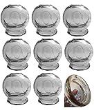 GMMH-Coppette XXL, diametro: 7,5cm 9pezzi dita coppette in vetro per massaggio a vuoto nuovo