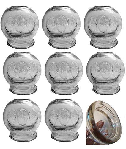 GMMH Lauscha-XXL, diámetro 7,5cm 9pieza Dedo Cristal para Masaje al (Fuego) Masaje