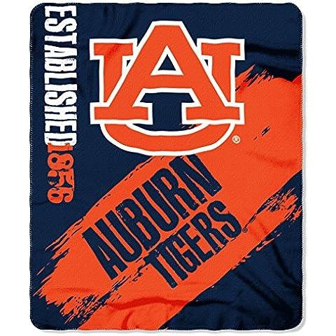 NCAA Auburn Tigers Painted Printed Fleece Throw Blanket, 50 x 60, Navy Blue by Northwest