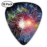 Rterss Geometry of Virtual Space Series - Juego de 12 púas para Guitarra eléctrica, acústica, mandolina y bajo, Personalizadas