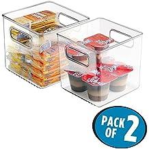 mDesign Caja organizadora para la cocina - Cajonera plástico ideal para el congelador o frigorífico - Juego de 2
