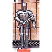 Templar Chevalier Noir Costume d'Armour Wearable Halloween–médiéval Armour
