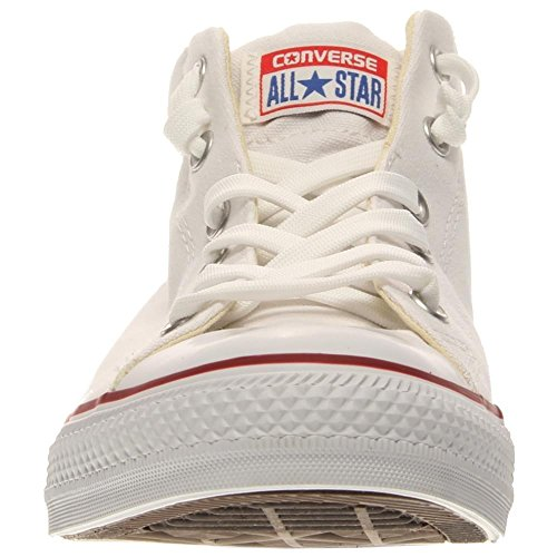 Converse Womens Chuck Taylor Street Mid Textile Trainers WHITE NATRL