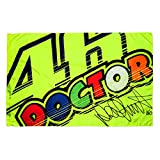 VR46 Rossi 46 Doctor Flag, Yellow, One size