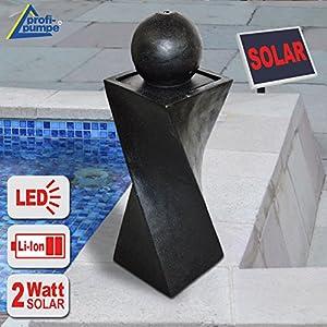 GARTENBRUNNEN BRUNNEN Solar BRUNNEN ZIERBRUNNEN VOGELBAD WASSERFALL GARTENLEUCHTE TEICHPUMPE - SPRINGBRUNNEN WASSERSPIEL für Garten, Gartenteich, Terrasse, Teich, Balkon, sehr DEKORATIV, VERBESSERTES MODELL MIT PUMPEN-INSTANT-START-FUNKTION SOLARTEICHDEK