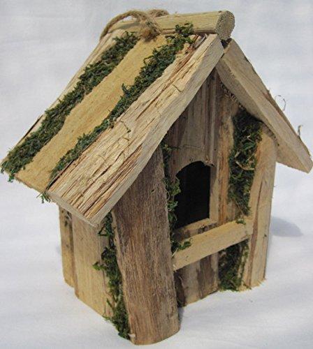 Hermosa casa de pájaros pájaro pajarera Nido Comedero NIST Casa Madera Nuevo