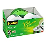 Scotch AAMT-3 Klebeband Magic 810 Promotion (3 Rollen Klebefilm, 19 mm x 25 m + Handabroller gratis)