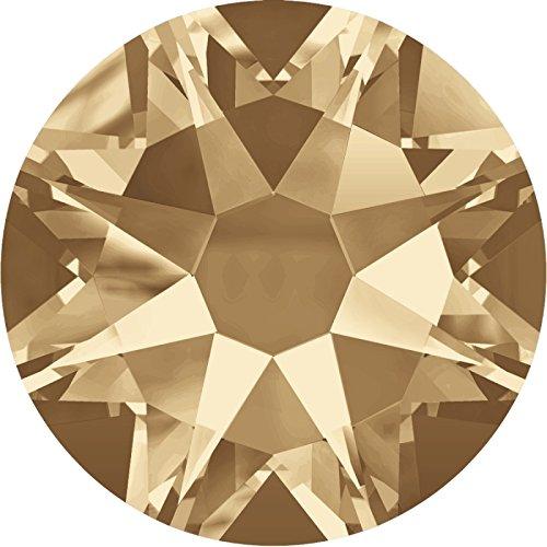 100 Stück SWAROVSKI ELEMENTS 2088 XIRIUS Rose, KEIN Hotfix, Crystal Golden Shadow, SS16 (Ø ca. 4 mm), Strasssteine zum Aufkleben