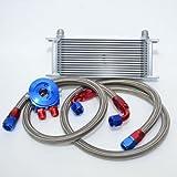 PAG Motorsport Universal Zusatz Ölkühler Set 16 Reihen inkl. Anschluss-Set