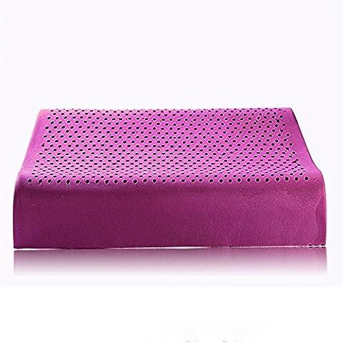 Super soft lavande oreiller en latex naturel, selon les principes ergonomiques, aidez à dormir la santé et la sécurité