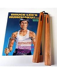 Chaku bois,naturel, octogonal, corde, longueur 30cm, avec Bruce Lee livre -livraison gratuite