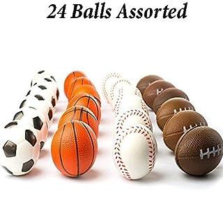 Adorox (24 Balls Assorted) Mini Sports Balls Stress Relief Squeeze