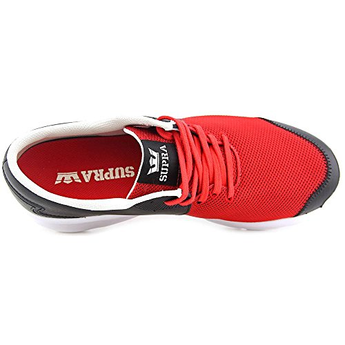 Supra Noiz Cuir Chaussure de Basket Black-Red