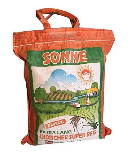 Basmati Reis Sonne Extra Lang Khorshid Darbari 10 KG super langkorniger Reis basmatirice Traditional Basmati, Indien, Himalaya