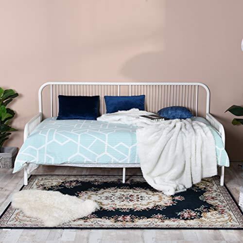 Aingoo Sofá Cama Individual Marco de Cama de día Cama para Invitados para niños Se Adapta a un colchón de 90 * 190 cm, Blanco