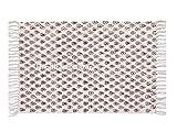 Teppich, indisch, 100% Baumwolle, Ethno-Stil, mit Handblockdruck, Kilim Teppich, Kilim Teppich, Namaz Matte, Gott Bete Matte, Sitzmatte, Blockdruck, Blockdruck, Teppich