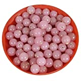 #3: Eshoppee glass beads lot diy kit-round handmade handcrafted glass beads(100 gm , 8mm )pink opaque