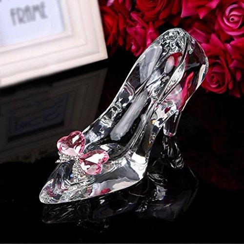 Regalo Cenicienta tacón alto Zapatos de cristal enviar novia Cumpleaños día de San Valentín Ceremonia de adultos Boda decoración Transparente bonita encanto creativo Alto grado Cajas de regalo, Liu yu · espacio creativo