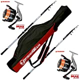 Evo Fishing Combo Kit surfcasting, 2 Sea Arrow 4.20 200 g + 2 moulinets Trabuco Dayton 8000 + Fourreau en Cordura Surfcasting Team 175 cm.