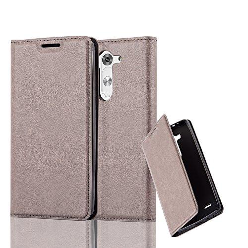 Cadorabo Hülle für LG G3 Mini / G3 S - Hülle in Kaffee BRAUN – Handyhülle mit Magnetverschluss, Standfunktion und Kartenfach - Case Cover Schutzhülle Etui Tasche Book Klapp Style