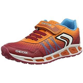 Geox Jungen J Shuttle Boy B Sneaker, Rot (Dk Red/Orange), 24 EU