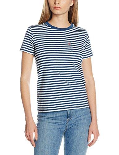 levis-damen-t-shirt-the-perfect-pocket-tee-mehrfarbig-willow-indigo-marshmallow-63-medium