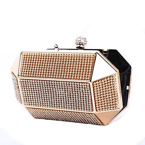 WANGXN Womens Clutches Nieten Runde Crystal Diamonds Dinner Pack Split  Messenger Guards Damen Bankett Damen Handtaschen ...